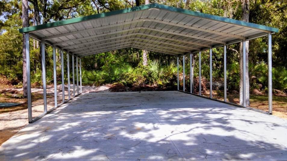 Probuilt Structures Sleel Building Storage Building Sheds She Sheds Man Cave Car port Boat Port RV Port on concrete