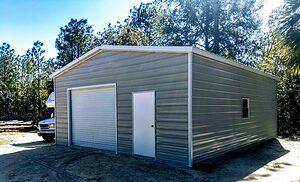 Probuilt Structures Sleel Building Storage Building Sheds She Sheds Man Cave Car port Boat Port RV Port customers building 3