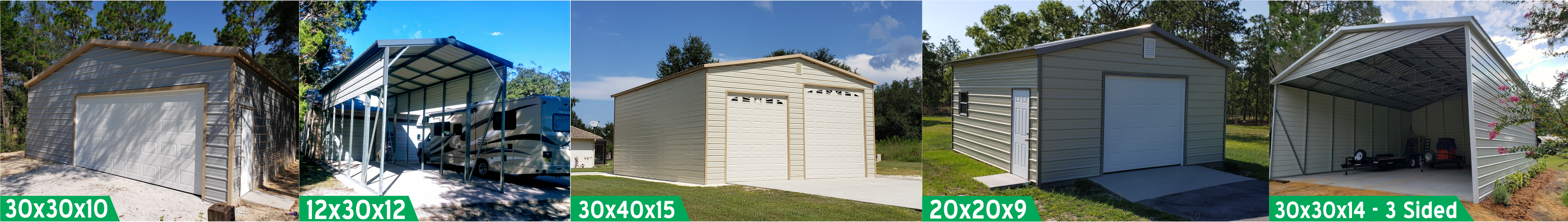 Probuilt Structures Sleel Building Storage Building Sheds She Sheds Man Cave Car port Boat Port RV Port Cover image 2
