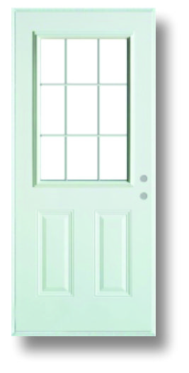 "36""x80"" 9-Lite Walk Door"
