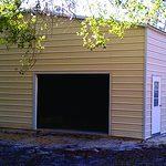 Probuilt Structures Sleel Building Storage Building Sheds She Sheds Man Cave Car port Boat Port RV Port big tan