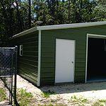 Probuilt Structures Sleel Building Storage Building Sheds She Sheds Man Cave Car port Boat Port RV Port two doors
