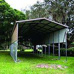 Probuilt Structures Sleel Building Storage Building Sheds She Sheds Man Cave Car port Boat Port RV Port on grass